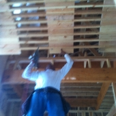 Building the first barrel ceiling.