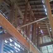 Braces in the attic.