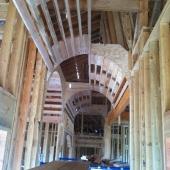 Barrel ceiling in the hallway.